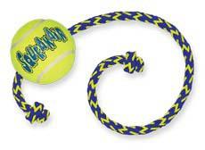"""Конг Игрушка для собак средних пород Air """"Теннисный мяч с канатом"""", Kong"""