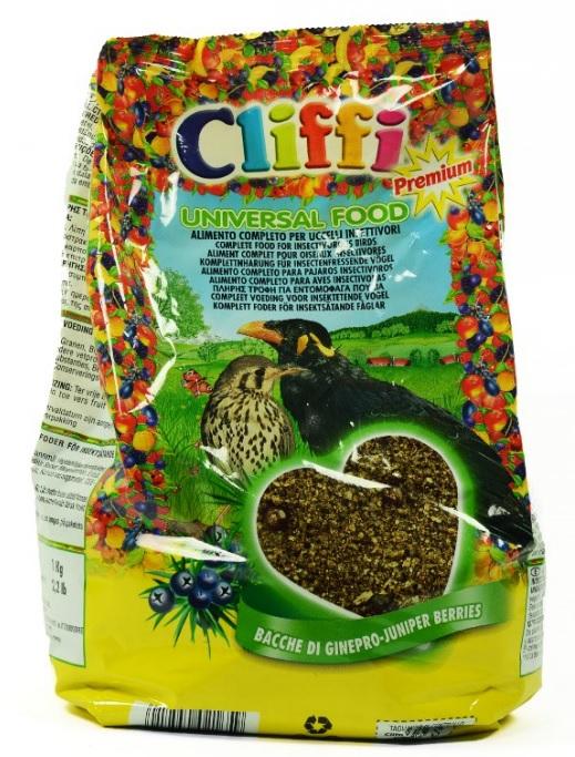 Клиффи Корм Universal Food универсальный для насекомоядных птиц, 1 кг, Cliffi
