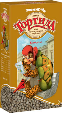 Зоомир Корм для для сухопутных черепах, гранулы, 150 г