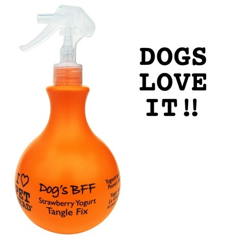 Пет Хед Спрей-уход для собак Клубнично-йогуртовый DOG'S BFF от колтунов и для блеска шерсти, без сульфатов и парабенов, 450 мл, Pet Head