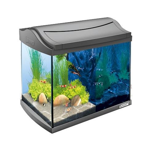 Тетра Аквариум AquaArt с LED освещением ДЕНЬ/НОЧЬ, объем 20 л, антрацит,  39,5*28*33 см, Tetra