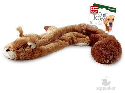 """Гигви Игрушка для собак """"Шкурка белки с пищалками"""", 61 см, GiGwi"""