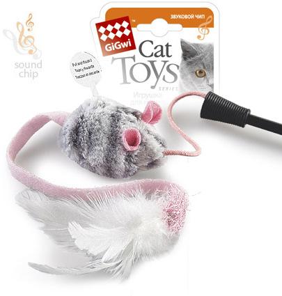Гигви Удочка-дразнилка с музыкальной игрушкой, GiGwi
