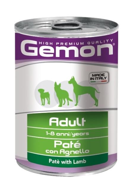 Джемон Консервы для взрослых собак всех пород Dog, 2 вкуса, 400 гр, Gemon