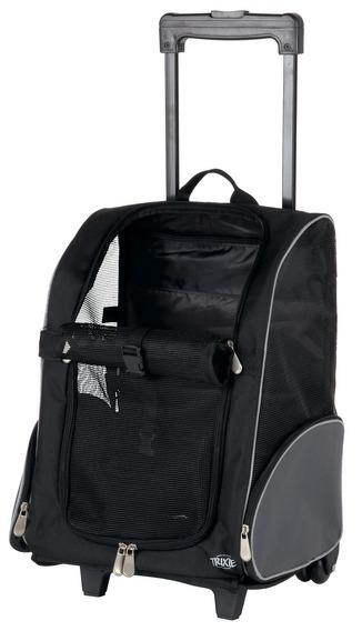 Трикси Транспортная сумка-рюкзак Trolley, черно/серый, 36*27*50 см, Trixie