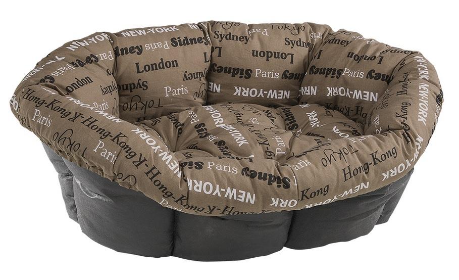 Ферпласт Лежанка Sofa коричневая с надписями, в ассортименте, Ferplast