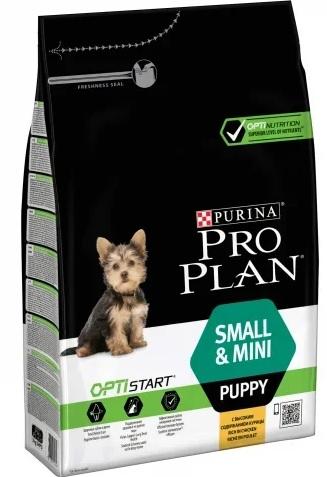 Корм Про План Puppy Small/Mini с комплексом OPTISTART для щенков мелких и карликовых пород, Курица, в ассортименте, Pro Plan