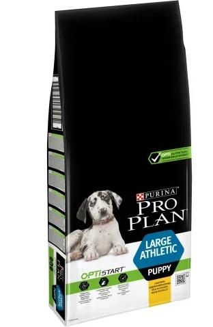Корм Про План Puppy Large Athletic с комплексом OPTISTART для щенков крупных пород с атлетическим телосложением, Курица, в ассортименте, Pro Plan