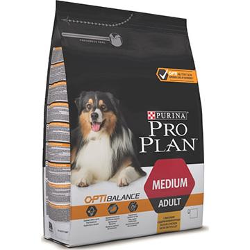 Корм Про План Adult Medium с комплексом OPTIBALANCE для собак средних пород, Курица, в ассортименте, Pro Plan