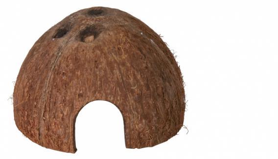 Трикси Домики из натурального кокоса для мелких грызунов, рептилий, рыб и креветок, 3 шт в комплекте, диаметр 8, 10 и 12 см, Trixie
