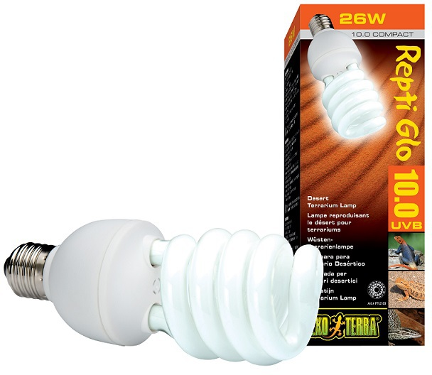 Экзо Терра Лампа Repti Glo 10.0 Compact для пустынного террариума, в ассортименте, Exo Terra