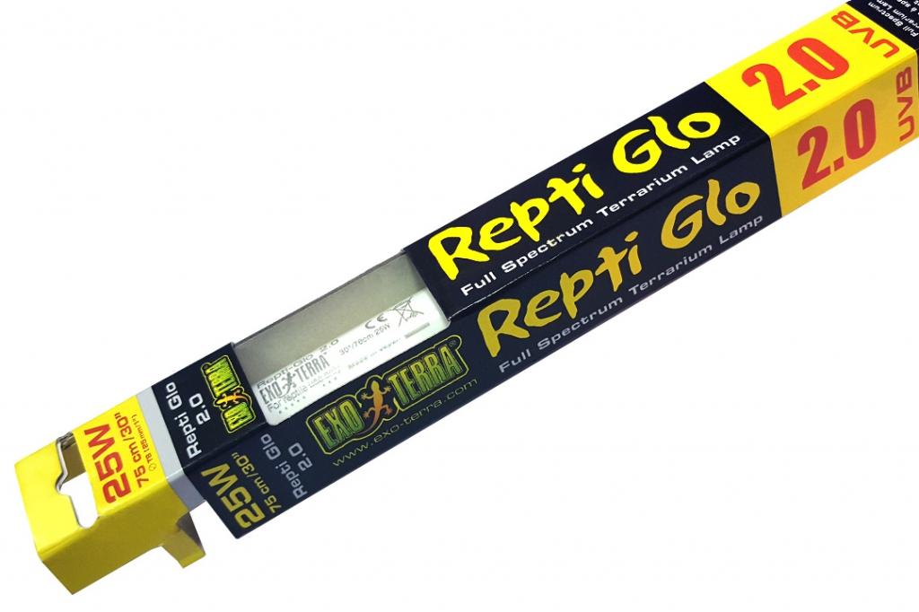 Экзо Терра Люминесцентная лампа с УФ Repti Glo 2.0, в ассортименте, цоколь T8, Exo Terra