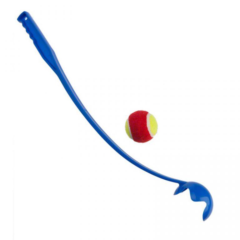 """ПетЛайн Игрушка для собак """"Катапульта с мячом"""", пластик, 50 см"""
