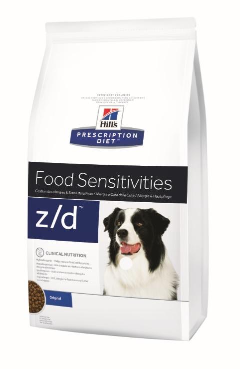 Корм Хиллс Prescription Diet z/d Ultra сухой для лечения острых пищевых аллергий собак, в ассортименте, Hills