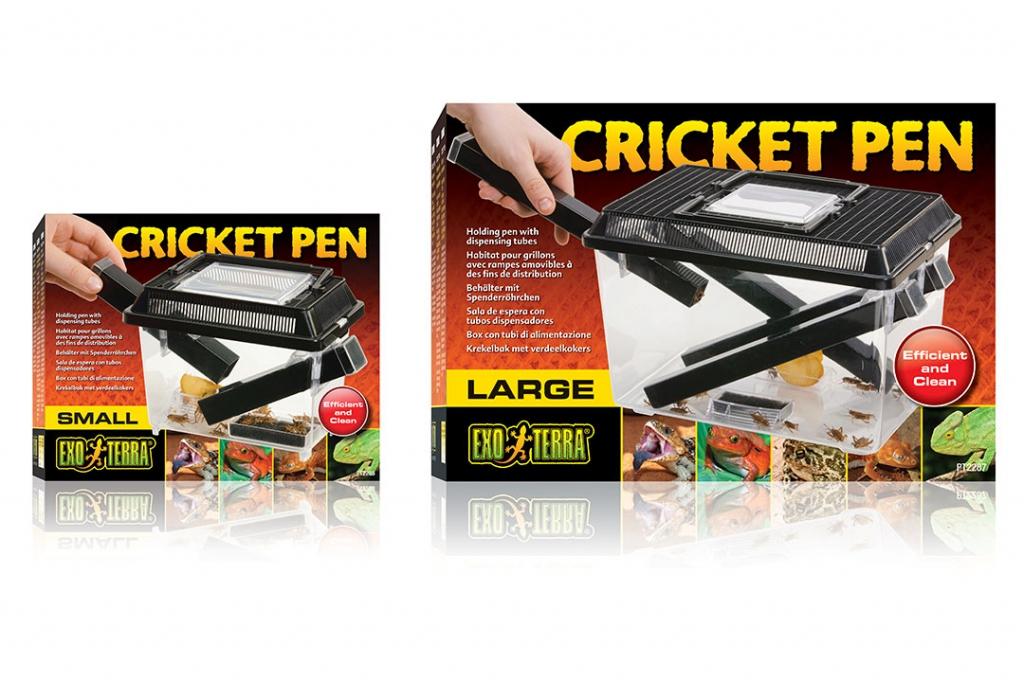 Экзо Терра Пластиковый контейнер для живого корма Cricket Pen, 2 размера, Exo Terra