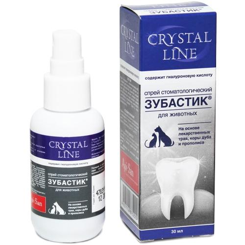 Апи-Сан Зубастик Crystal Line Спрей стоматологический для кошек и собак, 30 мл, Api-San