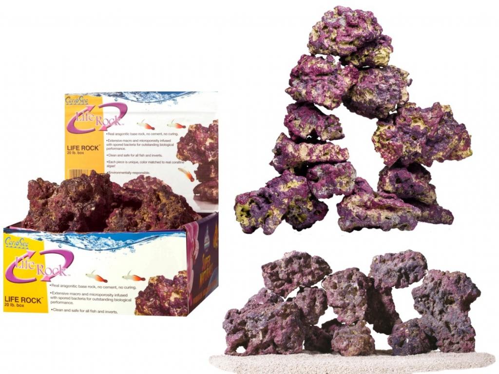КарибСеа Камень арагонитовый LIFE ROCK дисплей, вес 9 кг, CaribSea