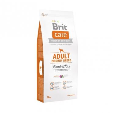 Корм Брит Care Adult Medium Breed для взрослых собак средних пород, ягненок с рисом, в ассортименте, Brit