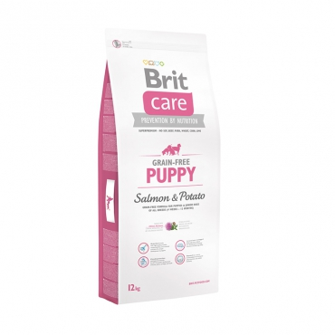 Корм Брит Care Puppy Salmon Potato для щенков всех пород, Лосось/Картофель, в ассортименте, Brit