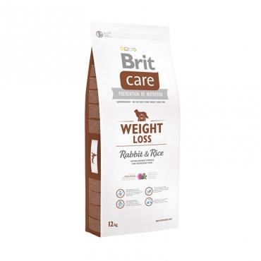 Корм Брит Care Weight Loss для собак, склонных к полноте, кролик с рисом, в ассортименте, Brit