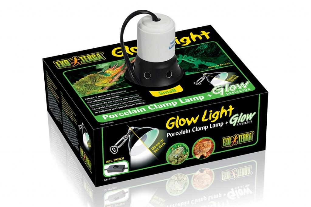 Экзо Терра Светильник навесной Glow Light для ламп с цоколем E27, в ассортименте, Exo Terra
