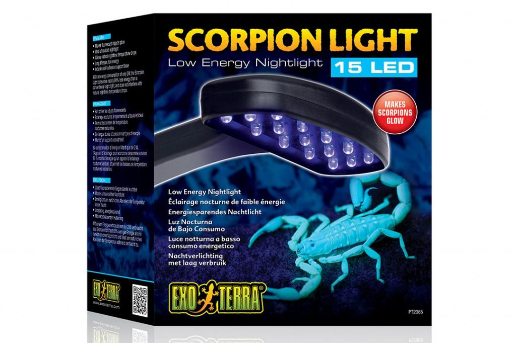 Экзо Терра Светильник ночной Scorpion Light для скорпионов, 15 LED, Exo Terra