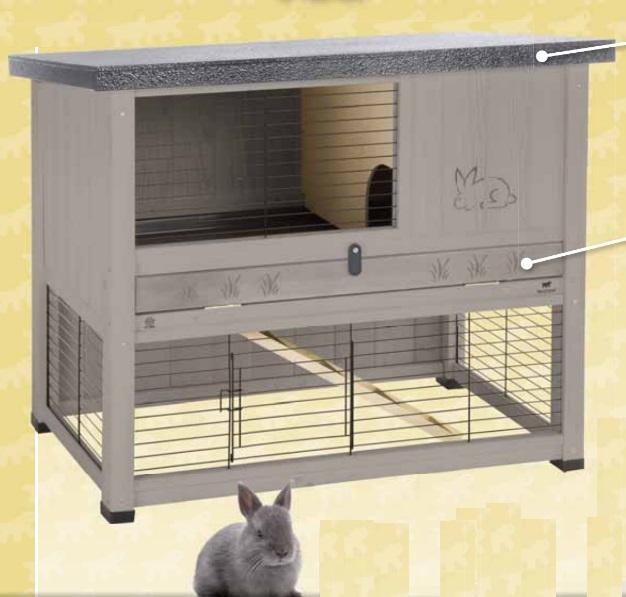 Ферпласт Деревянная клетка Ranch 100 Reastyling для кроликов и морских свинок, 95*64,5*84,5 см, в ассортименте, Ferplast