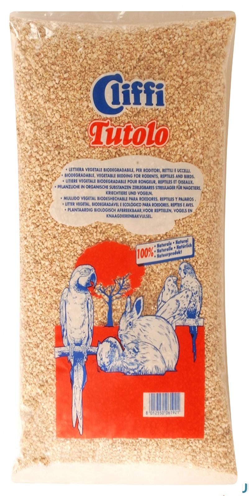 Клиффи Кукурузный наполнитель Tutolo для грызунов и птиц, 100% органик, в ассортименте, Cliffi