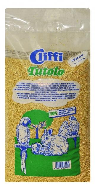 Клиффи Кукурузный наполнитель Tutolo Цитрус для грызунов и птиц, 100% органик, 4,5 кг, Cliffi