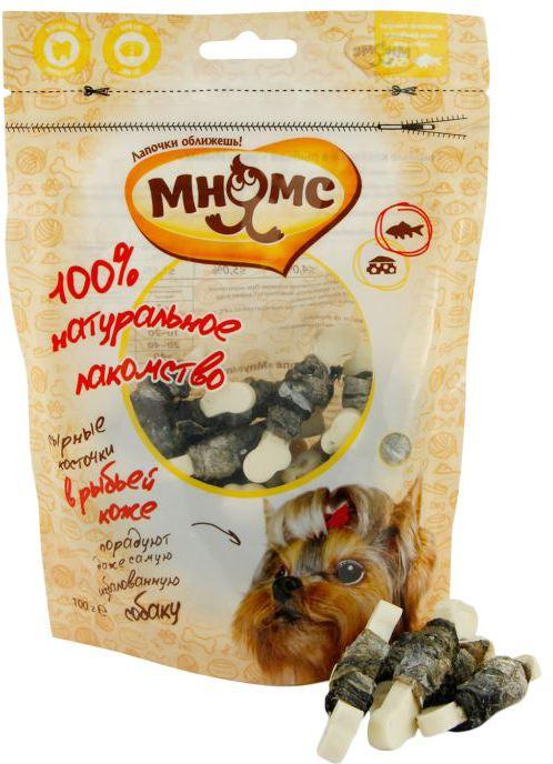 МНЯМС Лакомство для собак Сырные косточки в рыбьей коже, 100 г, Paragon