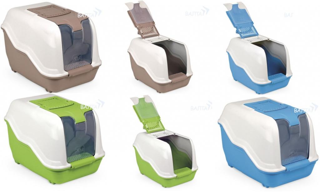 МПС Туалет-бокс Netta с ручкой, совком, фильтром, грязесборником, 54*39*40 см, в ассортименте