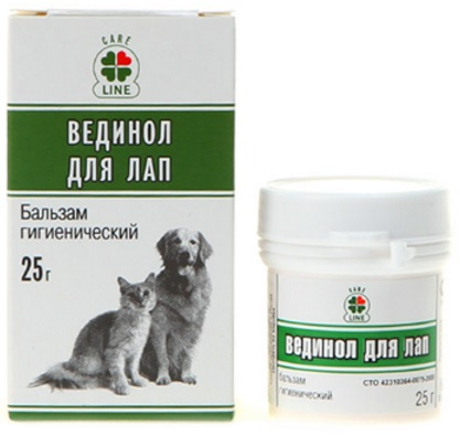 Мазь для лап собак и кошек Вединол с маслом сосны, 25 г