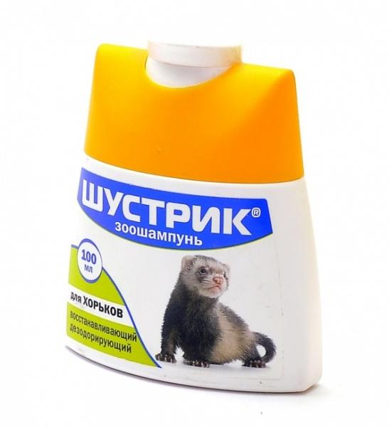 Шампунь восстанавливающий/дезодорирующий для хорьков Шустрик, 100 мл, Агроветзащита