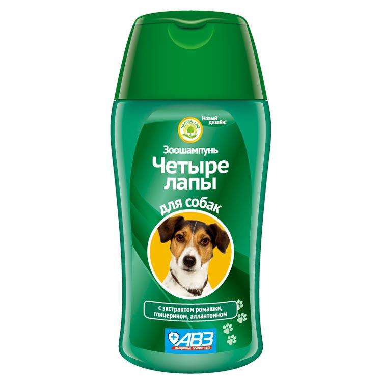 Шампунь Четыре лапы для ежедневного мытья лап собак, 180 мл, Агроветзащита