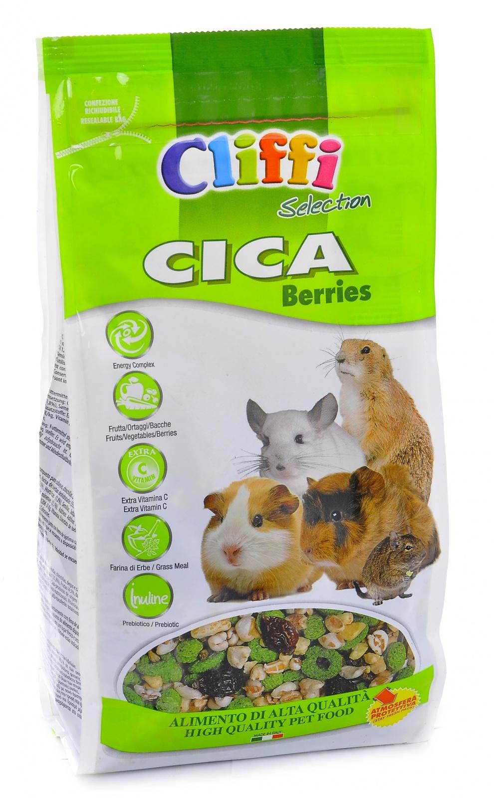 Клиффи Корм Cica berr ies для морских свинок, шиншилл, дегу и луговых собачек, серия SELECTION, 800 г, Cliffi