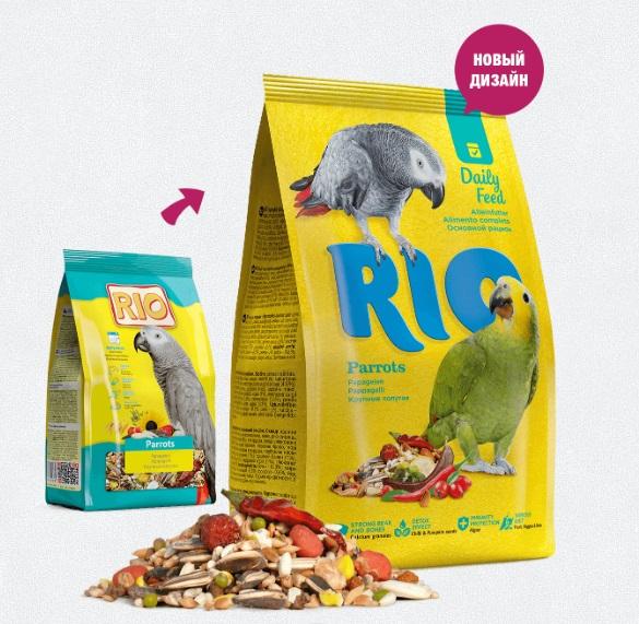 РИО Корм для крупных попугаев основной рацион, в ассортименте, RIO