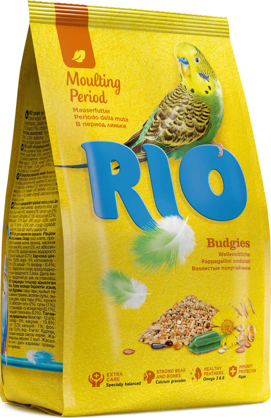 РИО Корм для волнистых попугаев в период линьки, в ассортименте, RIO