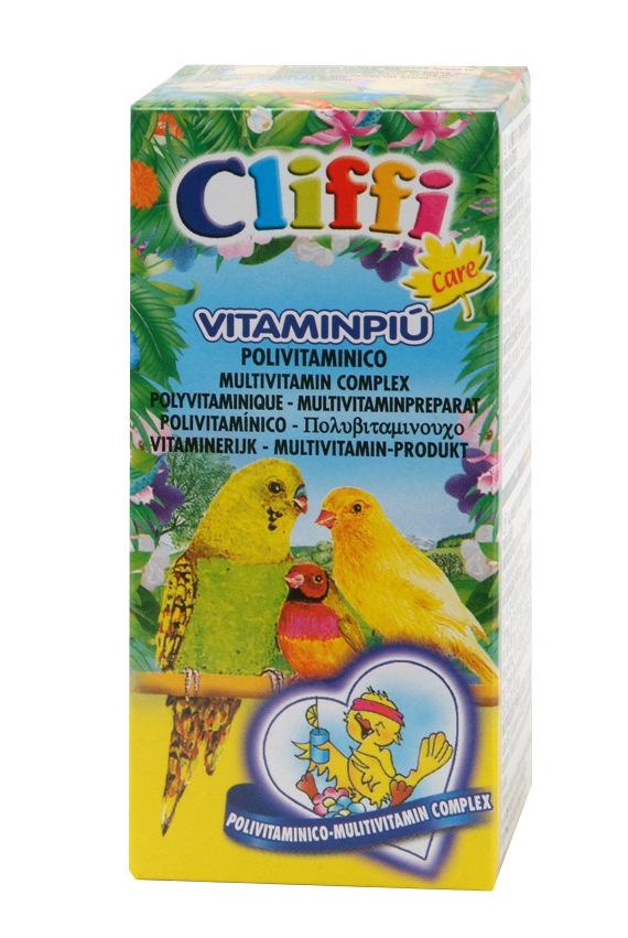 Клиффи Полный мультивитаминный комплекс Vitaminpiu для птиц, 25 мл, Cliffi