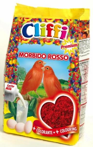 Клиффи Яичный корм для красных канареек Morbido Rosso, в ассортименте, Cliffi
