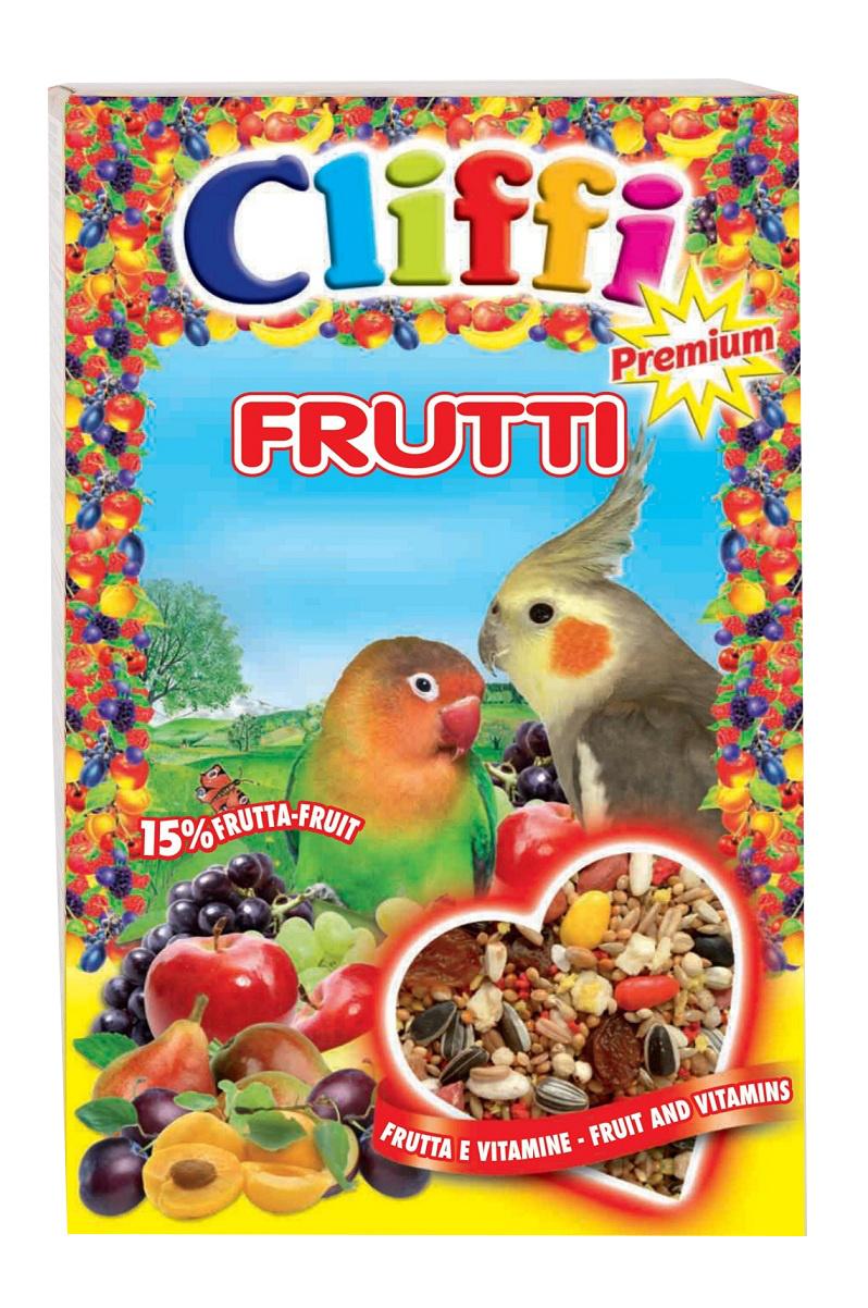 Клиффи Корм для средних попугаев с фруктами и орехами, Super Premium Frutti, 700 г, Cliffi