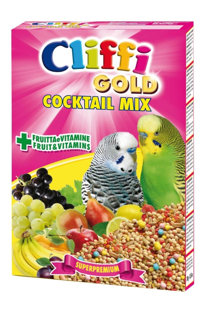 Клиффи Коктейль для волнистых попугаев: зерна, злаки, фрукты, овощи, Cocktail Mix Pappagallini, 300 г, Cliffi