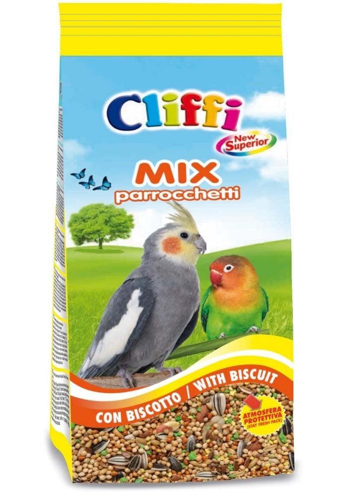 Клиффи Смесь отборных семян с бисквитом для средних попугаев, Superior Mix Exotics with biscuit, 1 кг, Cliffi
