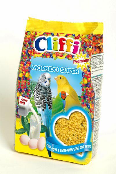 Клиффи Яичный корм с молоком Morbido Super для всех зерноядных птиц, в ассортименте, Cliffi
