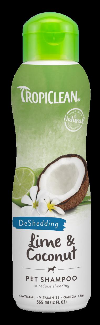 Тропиклин Шампунь против линьки Лайм и кокос (Lime/Coconut) для собак и кошек, 355 мл, Tropiclean