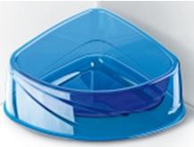 ГеорПласт Миска угловая пластиковая прозрачная Corner Lux для кошек и собак, в ассортименте, GeorPlast