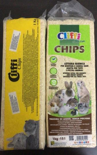 Клиффи Опилки деревянные Cips, 100% органик, 14 л (1 кг), Cliffi
