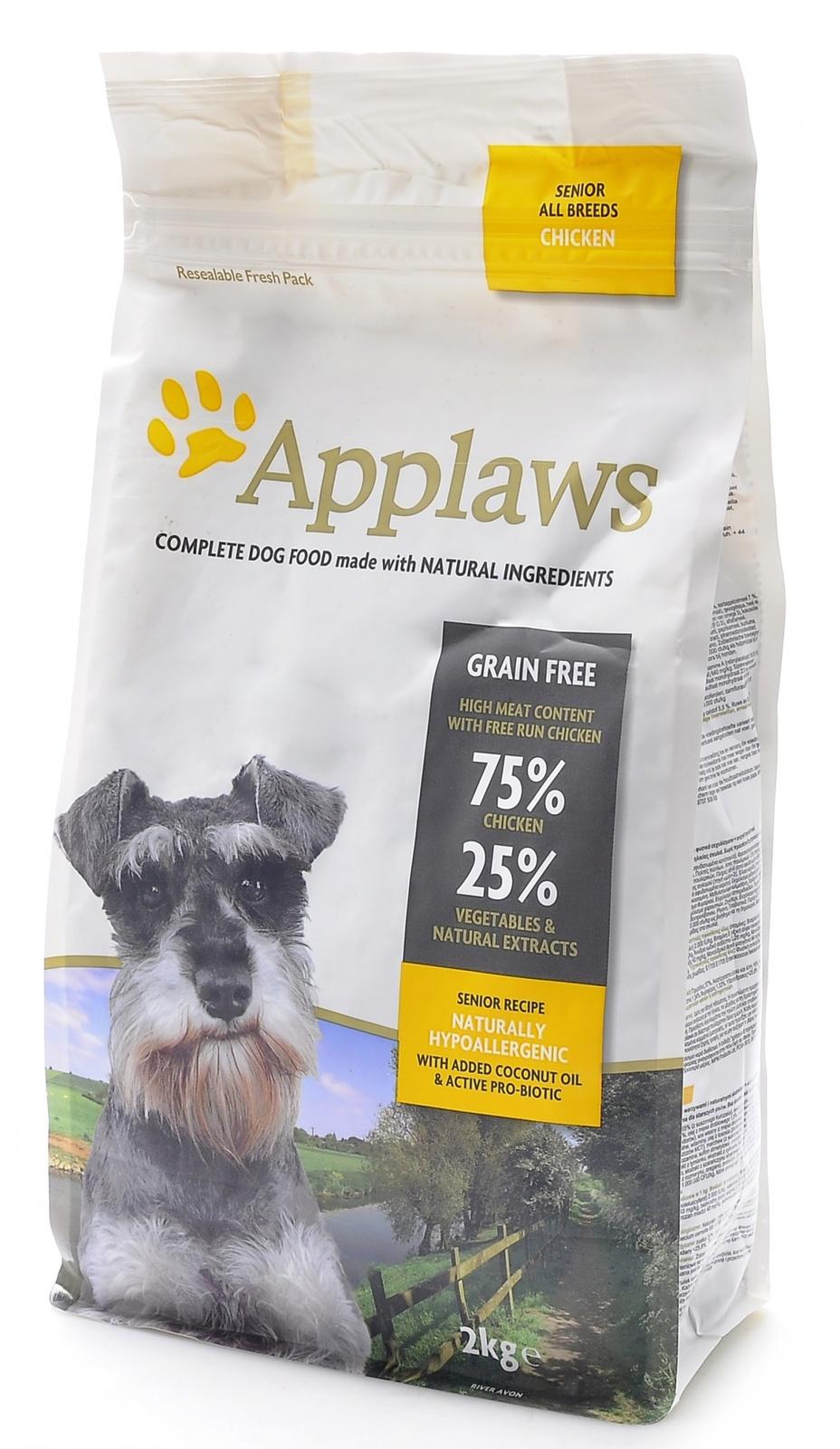 Эплауз Корм беззерновой для пожилых собак Dry Dog Chicken Senior, Курица/овощи, в ассортименте, Applaws