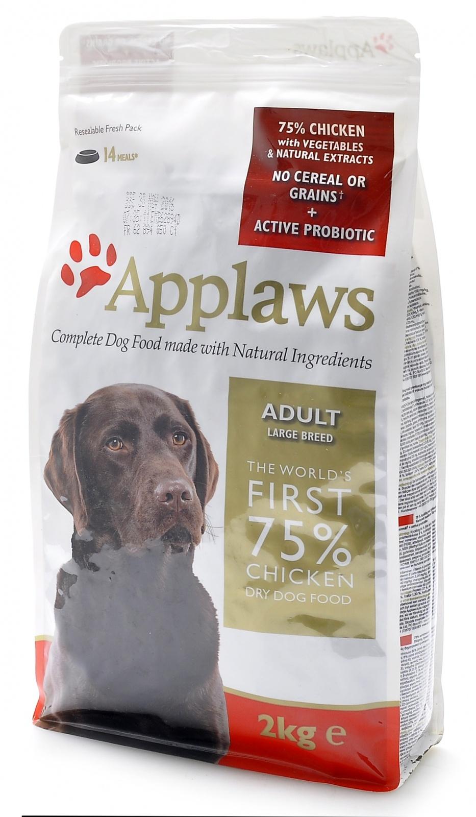 Эплауз Корм беззерновой для собак крупных пород Dry Dog Chicken Large Breed Adult, Курица/овощи, в ассортименте, Applaws