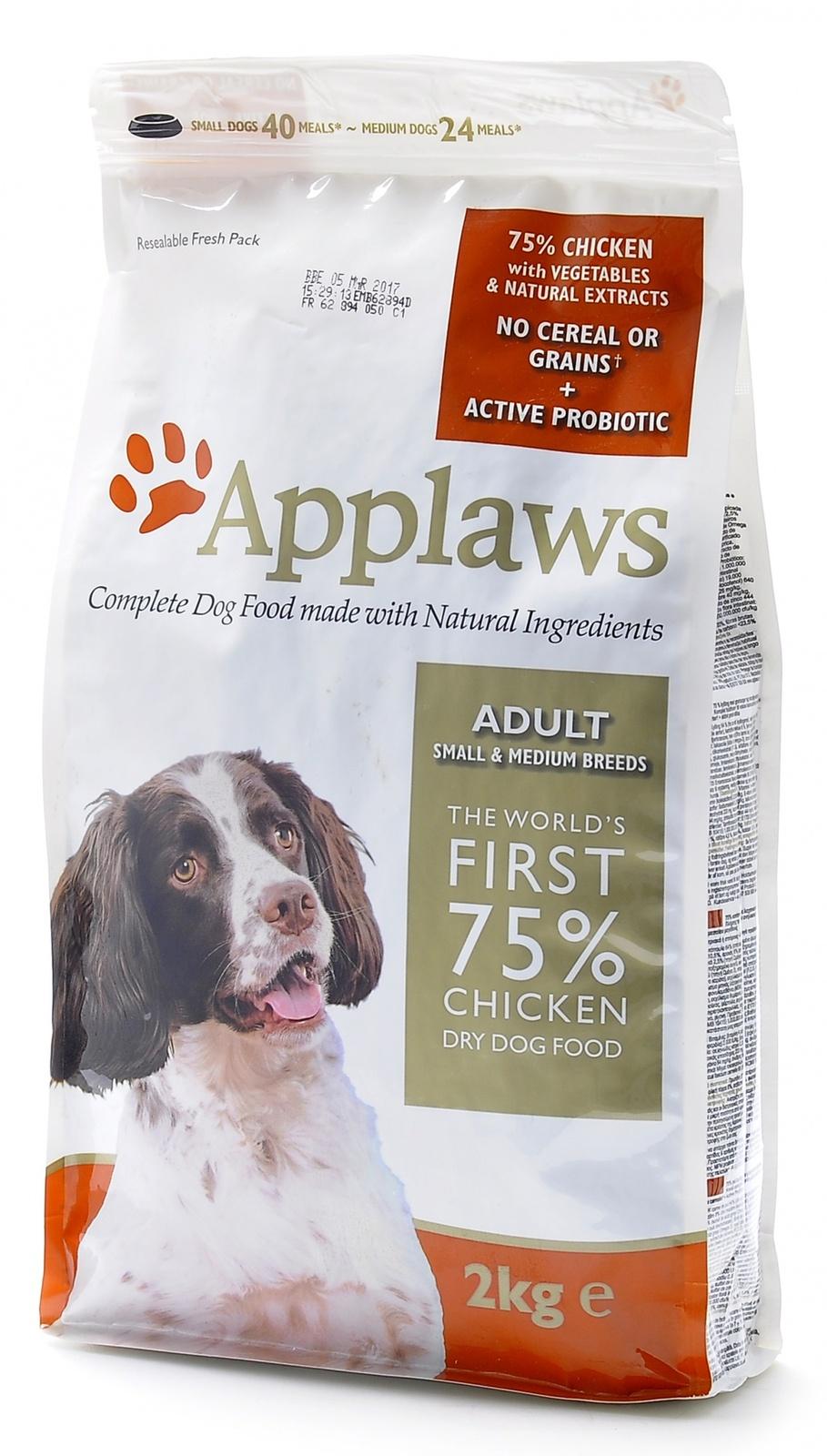 Эплауз Корм беззерновой для собак малых и средних пород Dry Dog Chicken Small and Medium Breed Adult, Курица/овощи, в ассортименте, Applaws