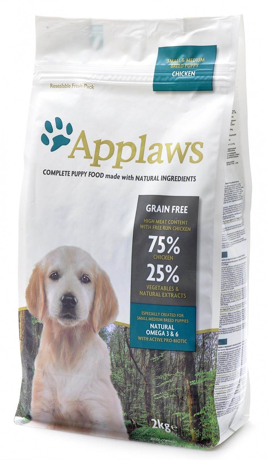 Эплауз Корм беззерновой для щенков малых и средних пород Dry Dog Chicken Small and Medium Breed Puppy, Курица/овощи, в ассортименте, Applaws